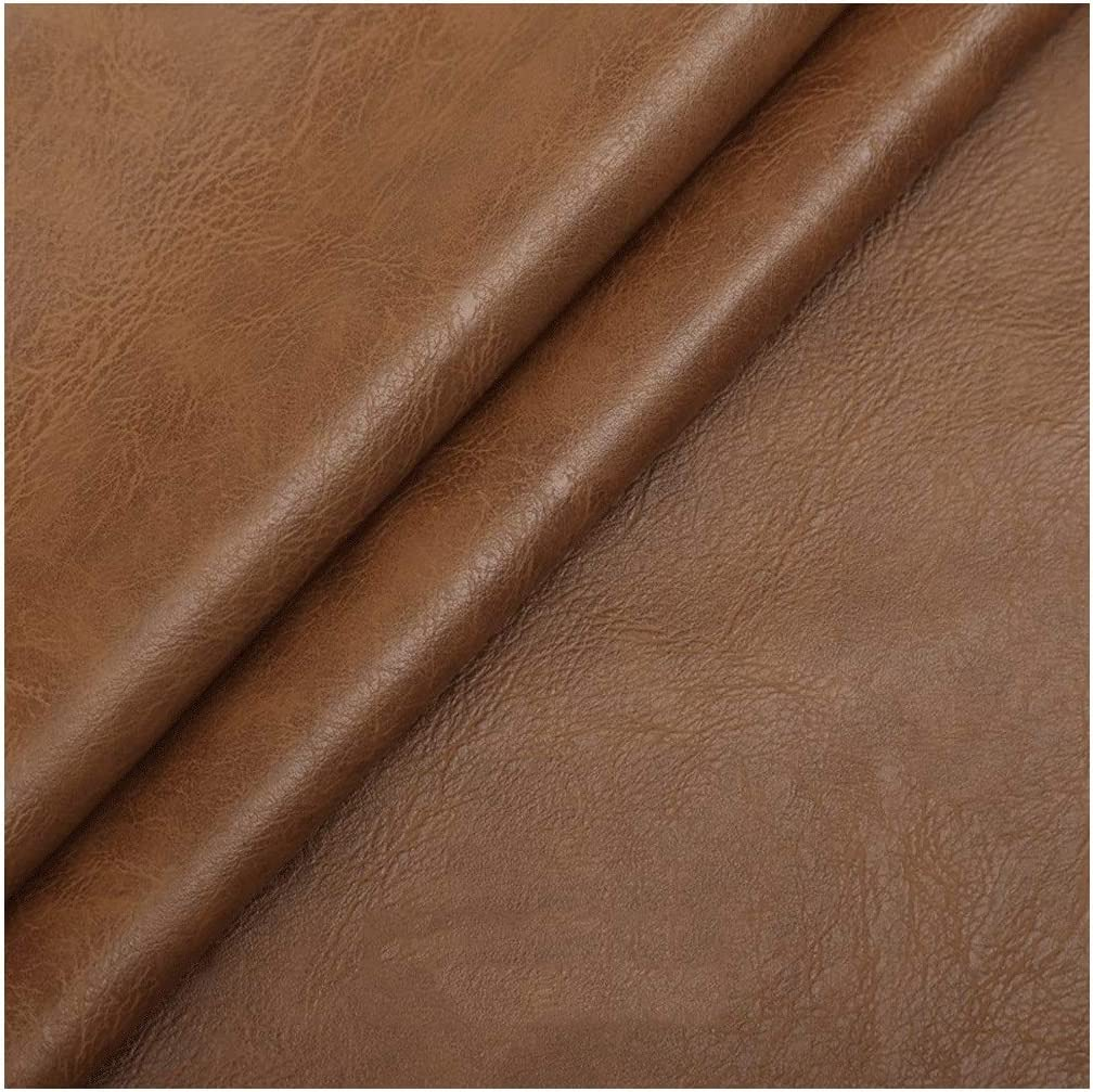 MAGFYLY Faux Leather roll Faux Leather Vinyl Fabric Thickness 1mm Heavy Duty Leatherette Upholstery Textured Material Width 54in (138cm) 1 Piece=50cm