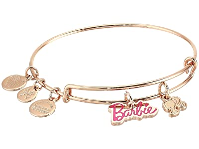 Alex and Ani Barbie Duo Charm Bangle Bracelet (Shiny Rose Gold) Bracelet