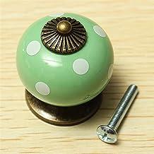 Trek Handvat Vintage Dot Ronde Keramiek Ladeknop Kabinet Pull Handvat Kast Deur Handvat voor Meubelknoppen Hardware Kast (...