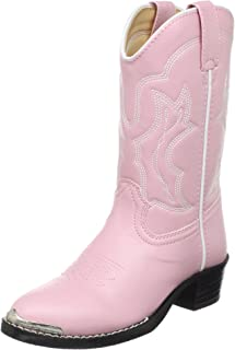 Durango Lil' Dusty Pink N Chrome Western Boot (Toddler/Little Kid)