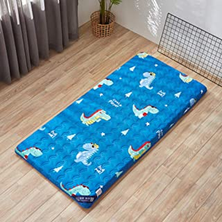 TGDPSTORE Japanese Sleeping Floor mat Futon Mattress Topper Cover, Foldable Breathable Tatami Bed roll for Kids Students Dorm Home-F 60x120cm(24x47inch)