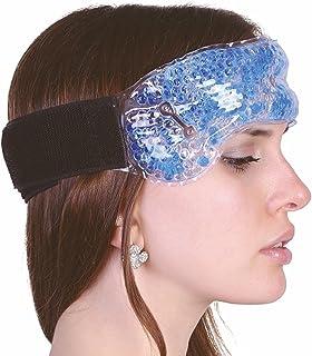 migrañas banda con velcro Compresa migrañas con perlas de frío y retiene gel terapéutico para aliviar cabeza y Resfriado nariz hemorragia nevera Cojín el cuello O cinta como Gafas