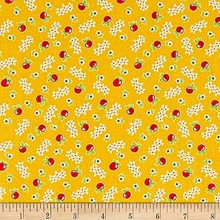 Riley Blake Designs Riley Blake Farm Girl Vintage Apple Honey Yellow, Fabric by the Yard