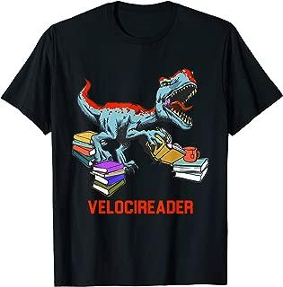 Velocireader - Awesome Velociraptor- back to school T-Shirt