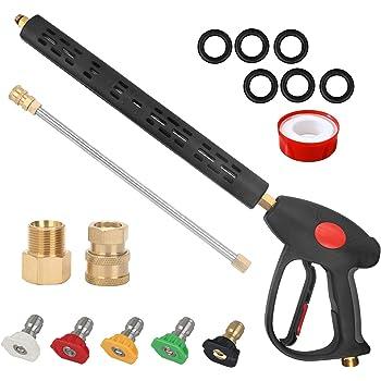 Pressure Washer Jet Washer Steam Cleaner Gun Lance /& Nozzle Assy 3//8 BSP MALE