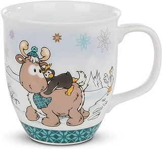 NICI 44151 Mug Penguin Frizzy & Reindeer Reny Heart, 9,5x10cm Toy, Turquoise