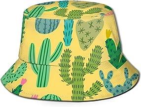 LHleiping Printed Bucket Hat, Fisherman Sun Hats for Men Women Girls Boys Cute Cactus Pattern