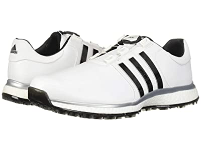 adidas Golf Tour360 XT Spikeless Boa (Footwear White/Core Black/Silver Metallic) Men