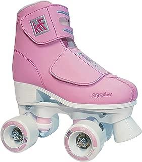 KRF The New Urban Concept Kids' School Velcro Junior Quad Roller Skates,  Pink,  UK J9.5/EU 27
