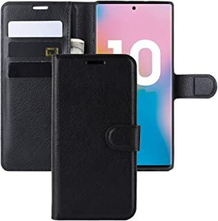 Galaxy Note 10 Case,Wallet Case for Note 10,CH-IC Protective Shockproof Leather Wallet Flip Folio Shell Cover with Kickstand Card Holders Magnetic Closure for Samsung Galaxy Note 10 2019 Release Black