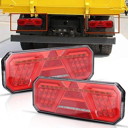Mesllin Led Stop Rücklicht Wasserdichtes Rückfahrblinker Rückfahrlicht Für Anhänger Atv Motorrad 2pcs Auto