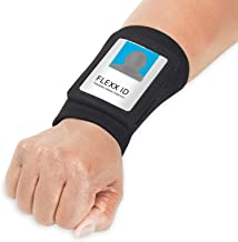 FLEXX ID PRO: an ID Badge Holder with a Outside Zipper Pocket to Hold Folded Bills, a Key, or Other Small Items. {Black}