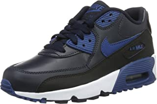 info for a20d1 1aa88 Nike Youths Air Max 90 Leather Leather Trainers Black