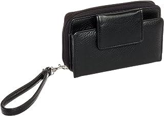 Buxton Women's RFID Identity Safe Wristlet Clutch Wallet (Black)