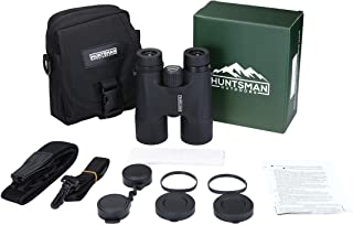 Huntsman Outdoors 10x42 Binoculars - HD Waterproof Roof Prism Binocular for Bird Watching, Sporting Events, Hunting and Sh...