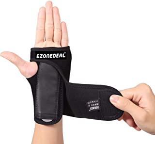 Breathable Wrist Brace Wraps Hand Support Compression with Fingers Stabilizer Pain Relief for Fitness Exercise Black (Left...