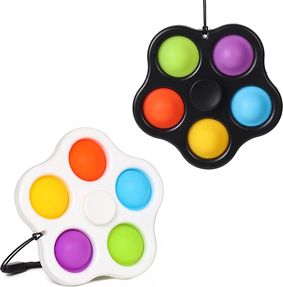 Yiran Simple Rotation Dimple Sensory toy Mini Fidget Dimple Toy Silicone Gamepad Flipping Board Toy Early Educational Toy Stress Relief Sensory Hand Toy Brain Development Toy Gift for Kids Adults