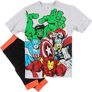 Mens Grey Marvel Comics Pyjamas
