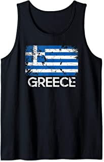 Greek Flag Design | Vintage Made In Greece Gift Tank Top