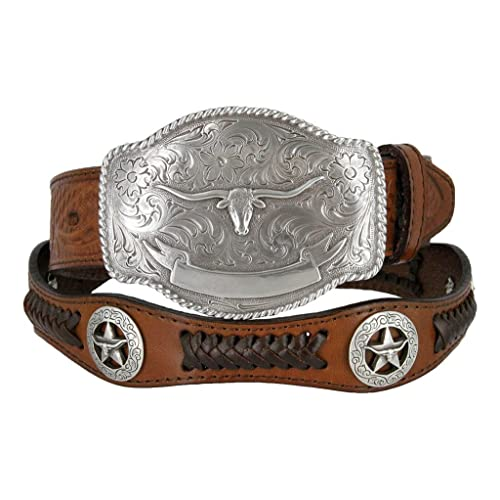 """TEXAS GOLD STAR STATE SEAL SCALLOP BRAIDED  BELT 2 Colors Sizes up to 60/"""""""