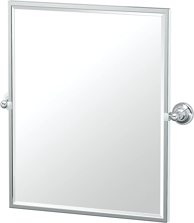Gatco 4329FSM Tiara Framed Small Rectangle Mirror Chrome, 25 H