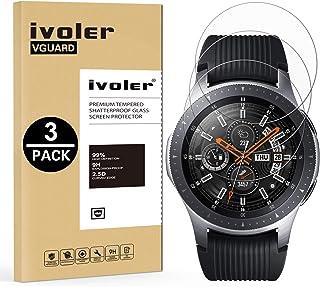 ivoler [3-pack] kompatibel med Samsung Galaxy Watch 46 mm/Samsung Gear S3 Frontier/S3 klassiskt skärmskydd, [härdat glas] ...