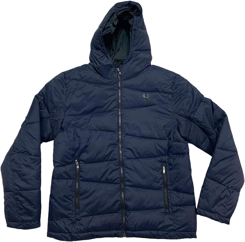 Spyder Men's Frontier Navy Blue Therma Full Zip Jacket