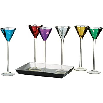 Eurotrail Set of 6 Camping Lemonade Glasses Unbreakable 375 ml Various Colours
