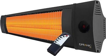 OPRANIC PRO - LAVA Calefactor eléctrico de infrarrojos, 2300 vatios, Mando a distancia con, 5 potencias, A prueba de salpicaduras IPX4, Color negro perla, Estufa infrarrojo exterior de bajo consumo
