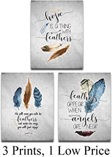 Hope Is A Thing With Feathers Prayer - 11x14 Unframed Typography Art Print - Great Home Decor and Great Inspirational Gift