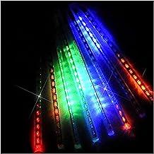 OMGAI LED Meteor Shower Rain Lights - Waterproof Drop Icicle Snow Falling Raindrop 30cm 8 Tubes Cascading Lights for Weddi...
