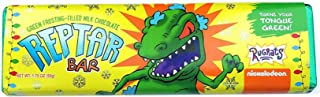 Reptar Bar - Nickelodeon Rugrats - Green Frosting Filled Milk Chocolate Bar, Turns Your Tongue Green - 1.75 Ounces