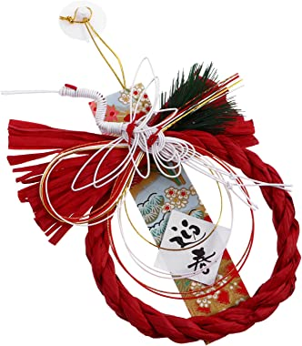 VALICLUD Traditional Japanese Style Door Wreath New Year Hanging Craft Ornament Photography Prop Restaurant Decoration