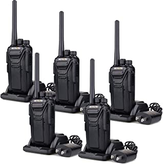 Retevis RT27 Walkie Talkies Rechargeable Long Range FRS Two Way Radio 22CH Encryption VOX 2 Way Radio (Black,5 pack)