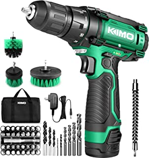 Cordless Drill/Driver Kit, 48pcs Drill w/Li-Ion Battery and Charger - 12V MAX Drill 280 In-lb Torque, 18+1 Metal Clutch, ...