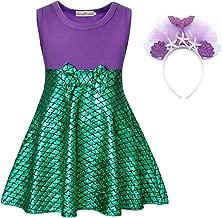 HenzWorld Princess Costume Dress Birthday Party Cosplay Outfits Headband 1-8 Years