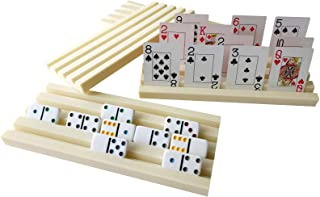 Yuanhe Set of 4 Plastic Domino Holders,Domino Racks,Domino Trays-Great for Domino Games and palying Cards Games at Home- D...