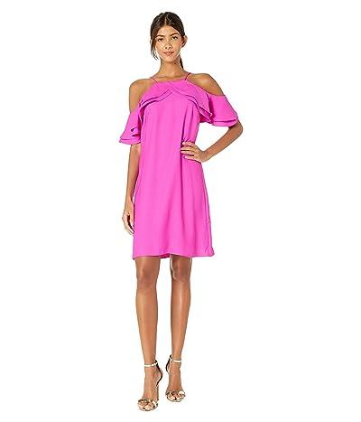 Nicole Miller Cold Shoulder Dress (Fuchsia) Women
