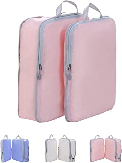 Large Compression Packing Cubes for travel-Track&Zone Ultra lightweight large travel compression packing organizers