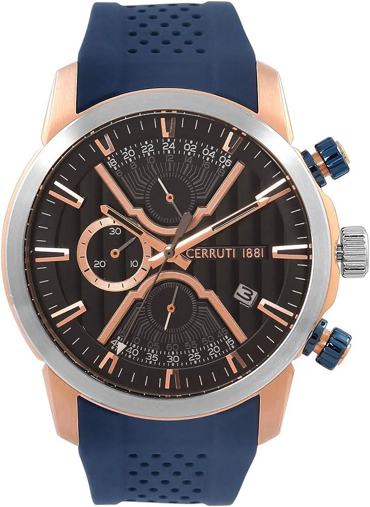 Cerruti 1881,orologio per uomo,in acciaio inossidabile e cinturino in silicone CRA21501