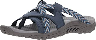 Skechers Women's Reggae-Soundproof-Thong Slide Multi-Strap Sandal