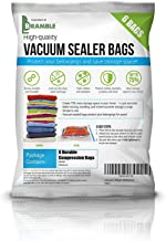 6 Pack Heavy Duty Vacuum Storage Bags Deluxe Set, Space Savers - Reusable Premium High Strength Sealer Bags - SAVING SPACE = SAVE MONEY (Small, 40x60CM)