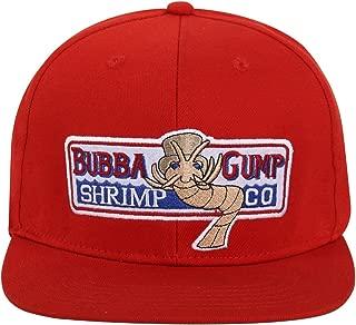 WYKBPX Adjustable Bubba Gump Baseball Cap Shrimp Co. Embroidered Hat (Red) (Flat Brimmed)