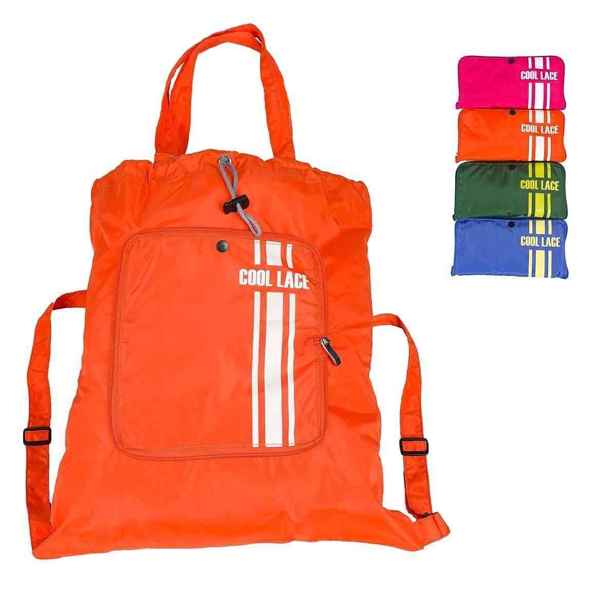 Teeoff Foldaway Sport Gym Sack Pack Cinch Sack Sports Backpack Storage Bag (Orange)