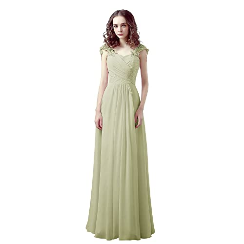 d3c0e4a5bf8a8 angel fashion Moden Design Chiffon Capsleeve Sweeteart Evening Formal Prom Bridesmaid  Dress-M02