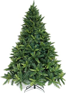 Potalay Artificial Christmas Tree Unlit 4,5,6,7.5 Feet Premium Hinged Spruce Full Tree(7.5 FT)
