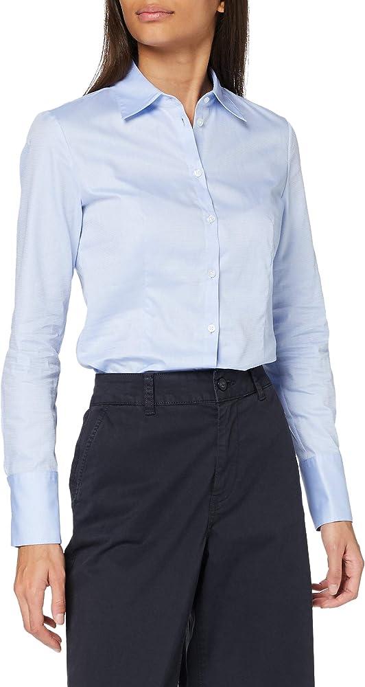 Hugo boss the fitted shirt, camicia da donna,63% cotone, 37% poliestere 50439490