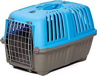 Pet Carrier: Hard-Sided Dog Carrier, Cat Carrier, Small Animal Carrier in Blue  Inside Dims 20.70L x 13.22W x 14.09H & Sui...