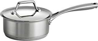 Tramontina 80101/023DS Gourmet Prima Stainless Steel, Induction-Ready, Impact Bonded, Tri-Ply Base Covered Sauce Pan, 1.5 Quart, Made in Brazil