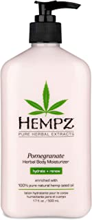 Hempz Pomegranate Herbal Body Moisturizer 17 oz. - Paraben-Free Lotion and Moisturizing Cream for All Skin Types, Anti-Agi...